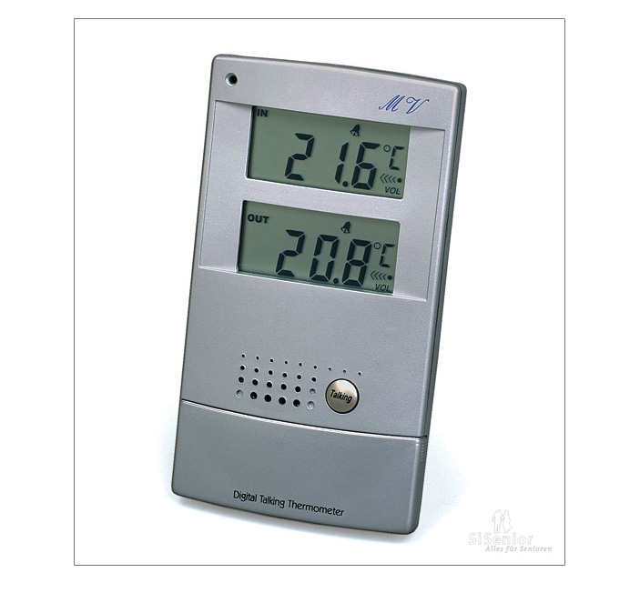 sprechendes thermometer mit sprachausgabe wetterstation sprechend mit sprache ebay. Black Bedroom Furniture Sets. Home Design Ideas