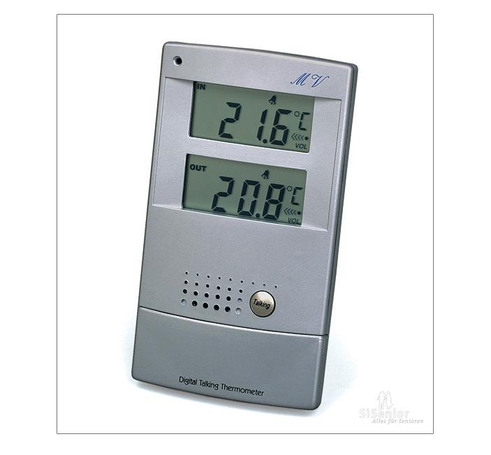 sprechendes thermometer mit sprachausgabe wetterstation. Black Bedroom Furniture Sets. Home Design Ideas